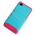 Amass Stand Hard Back Cases Covers for iPhone 4G - powder blue