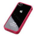 Color Covers Hard Back Cases for iPhone 4G - pink