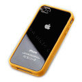 Color Covers Hard Back Cases for iPhone 4G - yellow