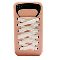 ISHOES Shoelace silicone cases covers for iPhone 4G - pink