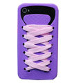 ISHOES Shoelace silicone cases covers for iPhone 4G - purple