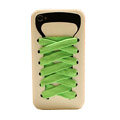 ISHOES Shoelace silicone cases covers for iPhone 4G - white