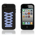ISHOES blue Shoelace silicone cases covers for iPhone 4G