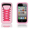 ISHOES rose Shoelace silicone cases covers for iPhone 4G
