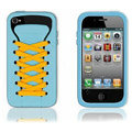 ISHOES yellow Shoelace silicone cases covers for iPhone 4G