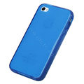 TPU material silicone cases covers for iPhone 4G - blue