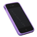 TPU material silicone cases covers for iPhone 4G - purple