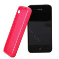 TPU material silicone cases covers for iPhone 4G - red