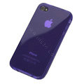 TPU material silicone cases covers for iPhone 4G - violet
