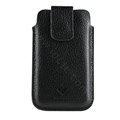Holster leather case for Blackberry Bold Touch 9900 - black EB003