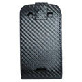 Holster leather case for Blackberry Bold Touch 9900 - black