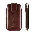 Holster leather case for Blackberry Bold Touch 9900 - brown EB001