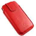 Holster leather case for Blackberry Bold Touch 9930 - red