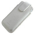 Holster leather case for Blackberry Bold Touch 9930 - white