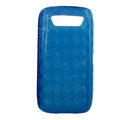 TPU silicone cases covers for Blackberry 9850 - blue