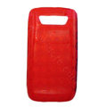 TPU silicone cases covers for Blackberry 9850 - red