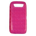 TPU silicone cases covers for Blackberry 9850 - rose