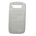 TPU silicone cases covers for Blackberry 9850 - white