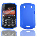 TPU silicone cases covers for Blackberry 9900 - blue