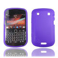 TPU silicone cases covers for Blackberry 9900 - purple