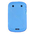 scrub silicone cases covers for Blackberry Bold Touch 9900 - blue