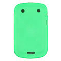 scrub silicone cases covers for Blackberry Bold Touch 9900 - green