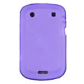 scrub silicone cases covers for Blackberry Bold Touch 9900 - purple