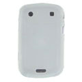 scrub silicone cases covers for Blackberry Bold Touch 9900 - white