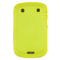 scrub silicone cases covers for Blackberry Bold Touch 9900 - yellow
