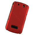 Matte Hard back cases covers for BlackBerry 9530 - red