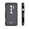 ROCK matte Skin cases covers for HTC EVO 3D - Black