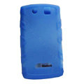 TPU silicone cases covers for BlackBerry 9530 - blue