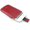 Brand Imak Holster Leather Case for HTC EVO 3D - Red