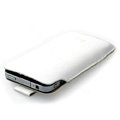 Brand Imak Holster Leather Case for HTC EVO 3D - White