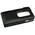 100% Genuine leather Cases Cover For HTC EVO 3D - Black