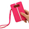 Holster leather case for Blackberry Storm 9530 - rose