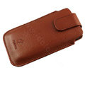 PIERVES Holster leather case for Blackberry Storm 9530 - Brown