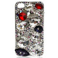 Bling Big Rhinestone S-warovski crystal case for iPhone 4G