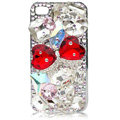 Bling Bowknot S-warovski crystal case for iPhone 4G