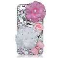 Bling Flowers S-warovski crystal cases covers for iPhone 4G