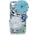 Bling Flowers S-warovski crystal cases skin for iPhone 4G