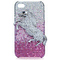 Bling Lion S-warovski crystal cases covers for iPhone 4G