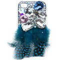 Bling Peacock feathers S-warovski crystal cases for iPhone 4G