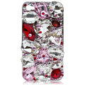 Bling S-warovski Big Rhinestone crystal case skin for iPhone 4G