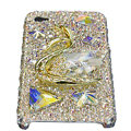 Bling S-warovski Big Swan crystal cases covers for iPhone 4G