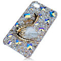 Bling S-warovski Big Swan crystal cases for iPhone 4G