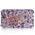 Bling S-warovski Peacock crystal cases for iPhone 4G - pink