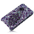 Bling S-warovski Peacock crystal cases for iPhone 4G - purple