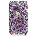 Bling S-warovski Peacock crystal cases for iPhone 4G