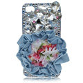 Flower Bling S-warovski crystal case covers for iPhone 4G